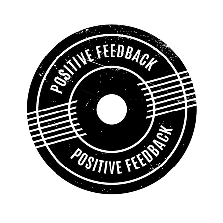 retaliation: Positive Feedback rubber stamp. Grunge design with dust scratches. Effects can be easily removed for a clean, crisp look. Color is easily changed. Illustration