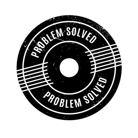 settle up: Problem Solved rubber stamp. Grunge design with dust scratches. Effects can be easily removed for a clean, crisp look. Color is easily changed.