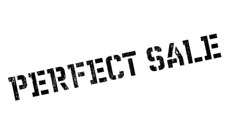 Perfect Sale rubber stamp. Grunge design with dust scratches. Effects can be easily removed for a clean, crisp look. Color is easily changed. Imagens