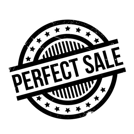Perfect Sale rubber stamp. Grunge design with dust scratches. Effects can be easily removed for a clean, crisp look. Color is easily changed. Stock Photo