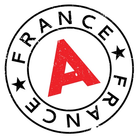 made manufacture manufactured: France rubber stamp. Grunge design with dust scratches. Effects can be easily removed for a clean, crisp look. Color is easily changed.