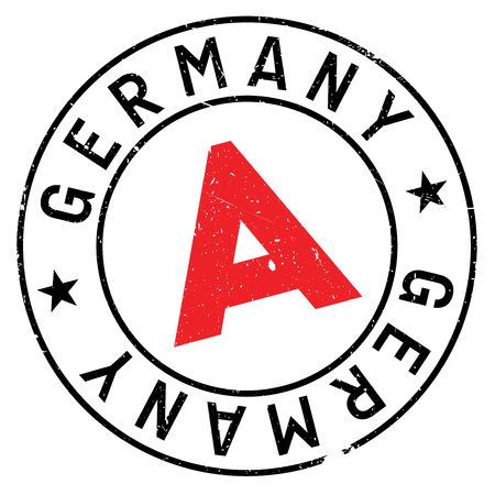 made in germany: Germany rubber stamp. Grunge design with dust scratches. Effects can be easily removed for a clean, crisp look. Color is easily changed.