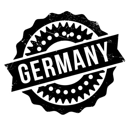 Germany rubber stamp. Grunge design with dust scratches. Effects can be easily removed for a clean, crisp look. Color is easily changed.