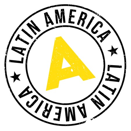 latin america: Latin America rubber stamp. Grunge design with dust scratches. Effects can be easily removed for a clean, crisp look. Color is easily changed. Illustration