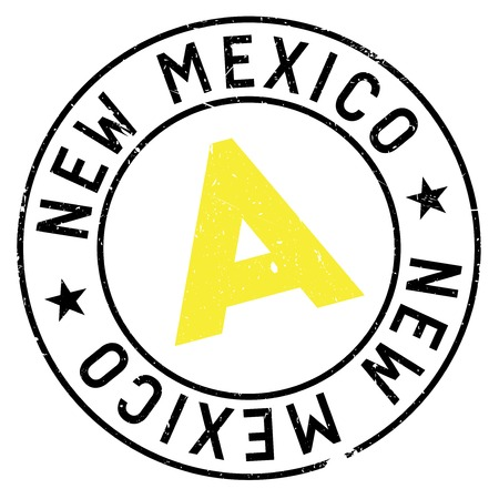 damaged: New Mexico rubber stamp. Grunge design with dust scratches. Effects can be easily removed for a clean, crisp look. Color is easily changed.