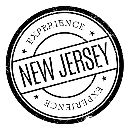 new look: New Jersey rubber stamp. Grunge design with dust scratches. Effects can be easily removed for a clean, crisp look. Color is easily changed. Illustration