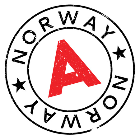 Norway rubber stamp. Grunge design with dust scratches. Effects can be easily removed for a clean, crisp look. Color is easily changed. Illustration