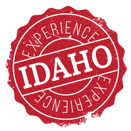 Idaho rubber stamp. Grunge design with dust scratches. Effects can be easily removed for a clean, crisp look. Color is easily changed.