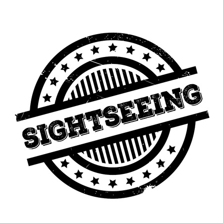 Sightseeing rubber stamp. Grunge design with dust scratches. Effects can be easily removed for a clean, crisp look. Color is easily changed. Illustration