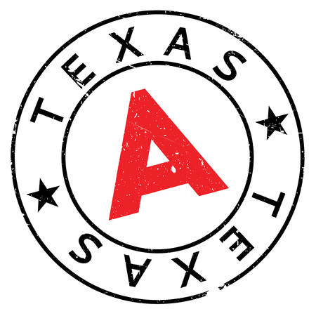 Texas rubber stamp. Grunge design with dust scratches. Effects can be easily removed for a clean, crisp look. Color is easily changed.