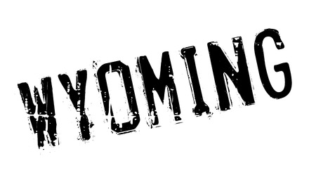 barre: Wyoming rubber stamp. Grunge design with dust scratches. Effects can be easily removed for a clean, crisp look. Color is easily changed.