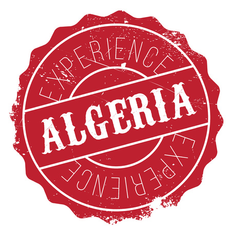 transnational: Algeria stamp. Grunge design with dust scratches. Effects can be easily removed for a clean, crisp look. Color is easily changed.