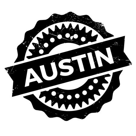 austin: Austin stamp. Grunge design with dust scratches. Effects can be easily removed for a clean, crisp look. Color is easily changed.