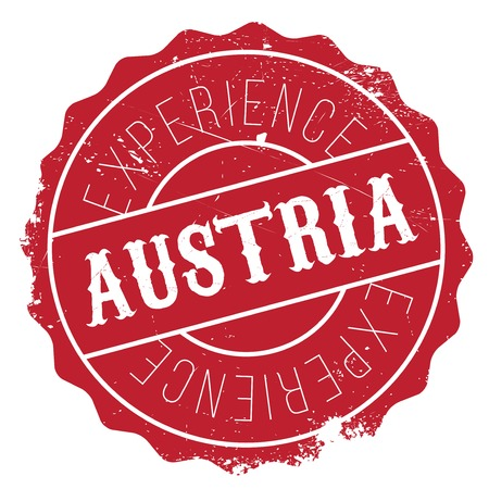 Austria stamp. Grunge design with dust scratches. Effects can be easily removed for a clean, crisp look. Color is easily changed.