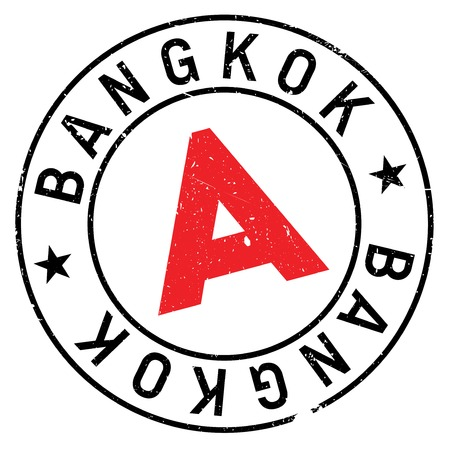 Bangkok stamp. Grunge design with dust scratches. Effects can be easily removed for a clean, crisp look. Color is easily changed.