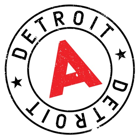 detroit: Detroit stamp. Grunge design with dust scratches. Effects can be easily removed for a clean, crisp look. Color is easily changed.