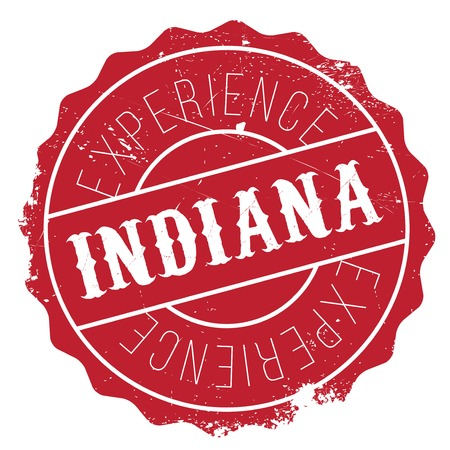 Indiana stamp. Grunge design with dust scratches. Effects can be easily removed for a clean, crisp look. Color is easily changed. Illustration