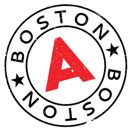 Boston stamp. Grunge design with dust scratches. Effects can be easily removed for a clean, crisp look. Color is easily changed. Illustration