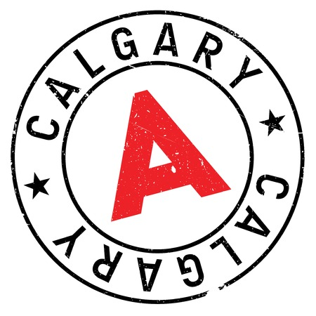 canada stamp: Calgary stamp. Grunge design with dust scratches. Effects can be easily removed for a clean, crisp look. Color is easily changed.