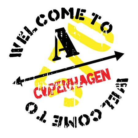 Copenhagen stamp. Grunge design with dust scratches. Effects can be easily removed for a clean, crisp look. Color is easily changed.