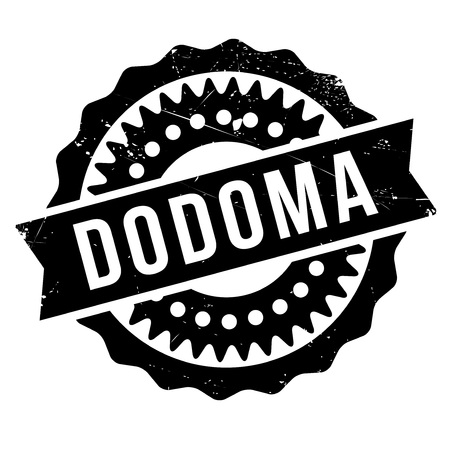 Dodoma stamp. Grunge design with dust scratches. Effects can be easily removed for a clean, crisp look. Color is easily changed. Illustration