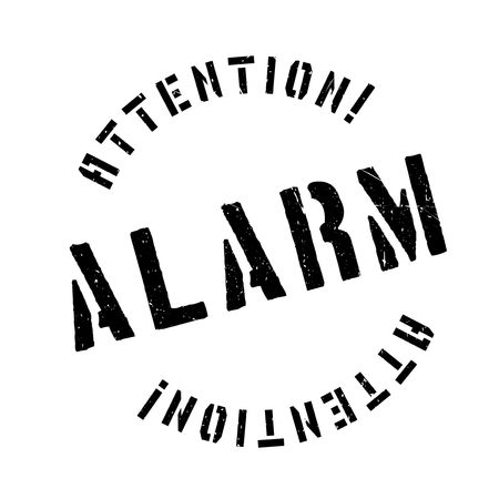 alarmed: Alarm rubber stamp. Grunge design with dust scratches. Effects can be easily removed for a clean, crisp look. Color is easily changed. Illustration
