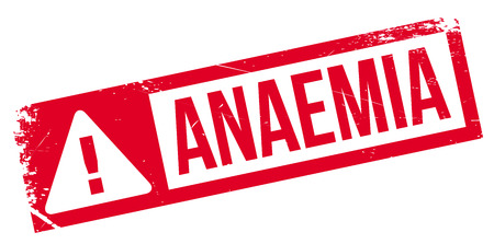 Anaemia rubber stamp. Grunge design with dust scratches. Effects can be easily removed for a clean, crisp look. Color is easily changed. Illustration