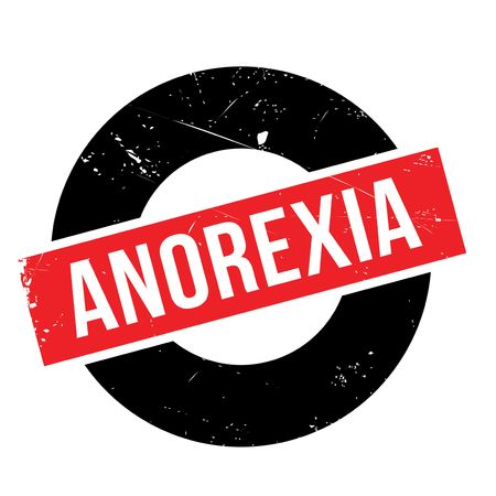 anorexia: Anorexia rubber stamp. Grunge design with dust scratches. Effects can be easily removed for a clean, crisp look. Color is easily changed.