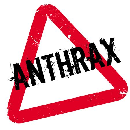 Anthrax rubber stamp. Grunge design with dust scratches. Effects can be easily removed for a clean, crisp look. Color is easily changed. Illustration