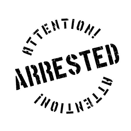 imprisonment: Arrested rubber stamp. Grunge design with dust scratches. Effects can be easily removed for a clean, crisp look. Color is easily changed.