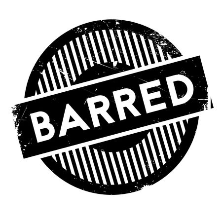 barring: Barred rubber stamp. Grunge design with dust scratches. Effects can be easily removed for a clean, crisp look. Color is easily changed.