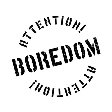Boredom rubber stamp. Grunge design with dust scratches. Effects can be easily removed for a clean, crisp look. Color is easily changed.
