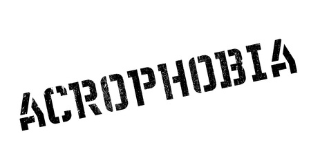 acrophobia: Acrophobia rubber stamp. Grunge design with dust scratches. Effects can be easily removed for a clean, crisp look. Color is easily changed.