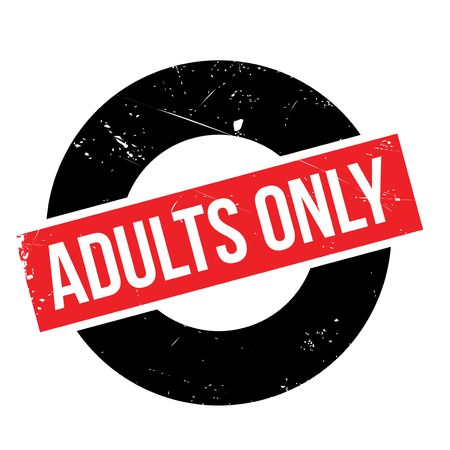 adult only: Adults Only rubber stamp. Grunge design with dust scratches. Effects can be easily removed for a clean, crisp look. Color is easily changed. Illustration