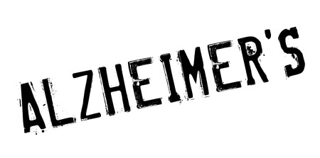 alzheimer s disease: Alzheimer rubber stamp. Grunge design with dust scratches. Effects can be easily removed for a clean, crisp look. Color is easily changed.