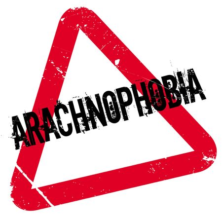 Arachnophobia rubber stamp. Grunge design with dust scratches. Effects can be easily removed for a clean, crisp look. Color is easily changed. Illustration