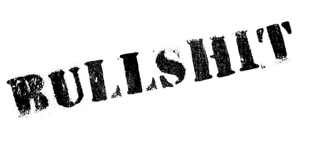 slang: Bullshit rubber stamp. Grunge design with dust scratches. Effects can be easily removed for a clean, crisp look. Color is easily changed.