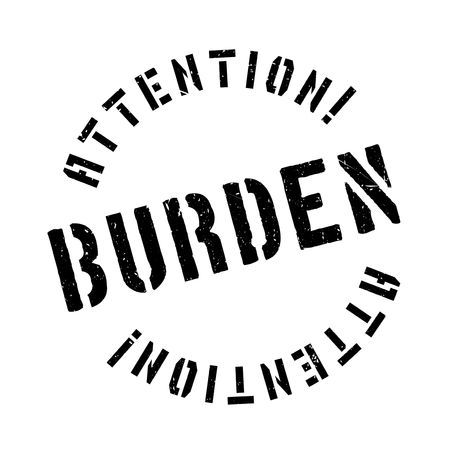 affliction: Burden rubber stamp. Grunge design with dust scratches. Effects can be easily removed for a clean, crisp look. Color is easily changed.