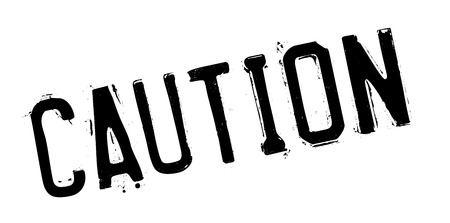 symbol vigilance: Caution rubber stamp. Grunge design with dust scratches. Effects can be easily removed for a clean, crisp look. Color is easily changed.