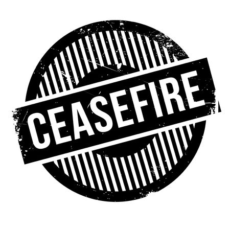 cease: Ceasefire rubber stamp. Grunge design with dust scratches. Effects can be easily removed for a clean, crisp look. Color is easily changed.
