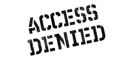 allowed to enter: Access Denied rubber stamp. Grunge design with dust scratches. Effects can be easily removed for a clean, crisp look. Color is easily changed.