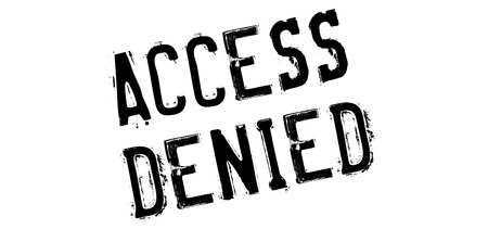forbid: Access Denied rubber stamp. Grunge design with dust scratches. Effects can be easily removed for a clean, crisp look. Color is easily changed.