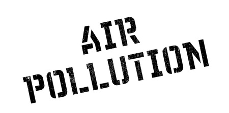 Air Pollution rubber stamp. Grunge design with dust scratches. Effects can be easily removed for a clean, crisp look. Color is easily changed.