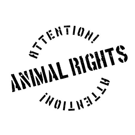 animal cruelty: Animal Rights rubber stamp. Grunge design with dust scratches. Effects can be easily removed for a clean, crisp look. Color is easily changed.