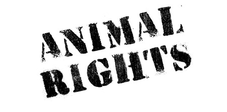 activism: Animal Rights rubber stamp. Grunge design with dust scratches. Effects can be easily removed for a clean, crisp look. Color is easily changed.