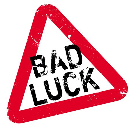 bad fortune: Bad Luck rubber stamp. Grunge design with dust scratches. Effects can be easily removed for a clean, crisp look. Color is easily changed.