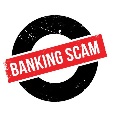 extortion: Banking Scam rubber stamp. Grunge design with dust scratches. Effects can be easily removed for a clean, crisp look. Color is easily changed.