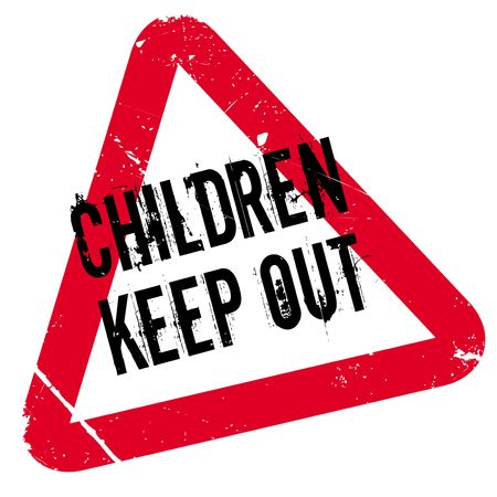 Children Keep Out rubber stamp. Grunge design with dust scratches. Effects can be easily removed for a clean, crisp look. Color is easily changed.