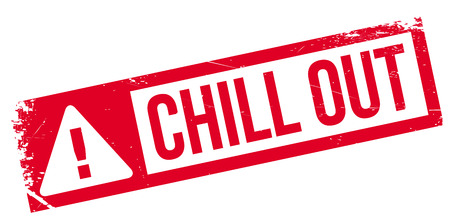 chill out: Chill Out rubber stamp. Grunge design with dust scratches. Effects can be easily removed for a clean, crisp look. Color is easily changed.