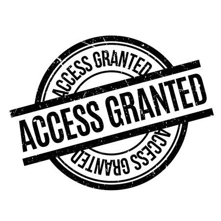 admit: Access Granted rubber stamp. Grunge design with dust scratches. Effects can be easily removed for a clean, crisp look. Color is easily changed.